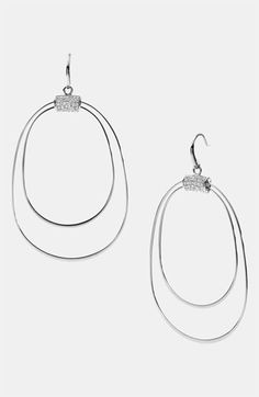 Michael Kors 'Brilliance' Frontal Hoop Earrings available at #Nordstrom