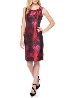 Kasper  Floral Jacquard Sheath Dress