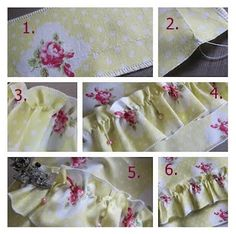 Have you ever wondered just how people get those perfect #ruffles in a skirt or edging? It's so much easier than you could imagine, check out this super simple #tutorial for creating a thick ruffle in just a few easy steps on your #sewing machine!