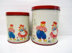 Vintage Tins Dutch Tins Set of Two Vintage Dutch by ZoonVanOom, $38.00