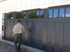 Sneak Peek! The composite-over-steel garage doors by Clopay getting a final inspection after installation in our 2016 Show House. To be revealed September 23. Get your own here: http://www.clopaydoor.com/