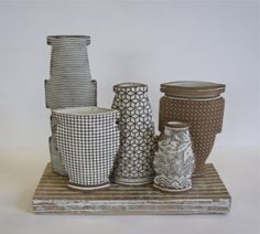 """Still Life Objects"""" Maggie Williams 2015 Play Clay, Still Life, Candle Holders, Objects, Ceramics, Sculpture, Surface, Decoration, Decorating"""