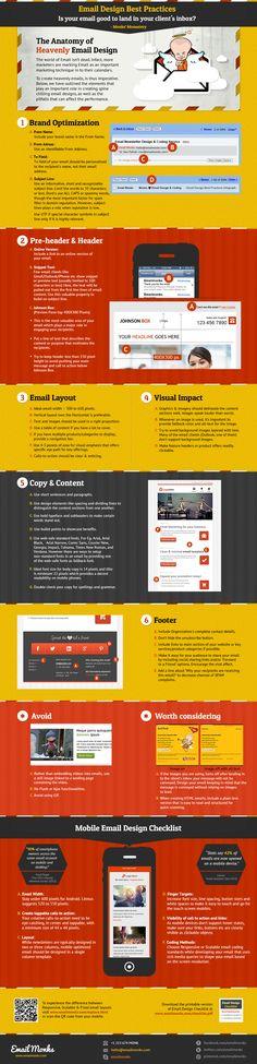 Las mejores prácticas en el diseño de tus emails #infografia #infographic #design | TICs y Formación