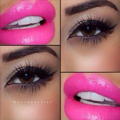 Stunning makeup ~ HOT pink!