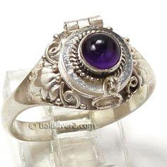 Poison Ring Prayer Box  Sterling Silver 925 Bali by Balisilver2