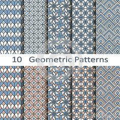 Set Of Ten Geometric Patterns - Download From Over 30 Million High Quality Stock Photos, Images, Vectors. Sign up for FREE today. Image: 43939068