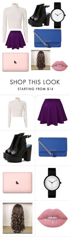 """Untitled #72"" by twilightytb ❤ liked on Polyvore featuring A.L.C., MICHAEL Michael Kors and Lime Crime"