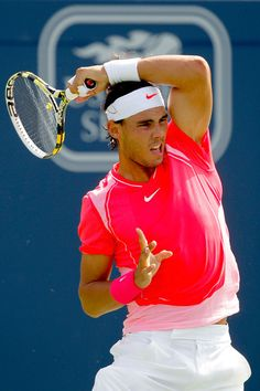 Nadal hands down rocks the coolest on court shirts!
