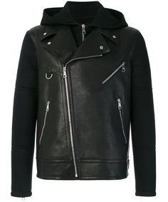 NEIL BARRETT Neil Barrett Men's  Black Leather Outerwear Jacket. #neilbarrett #cloth #