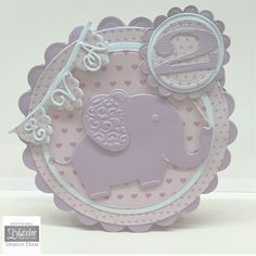 Circular card using Sara Signature Little Angel Collection - Designed by Judith Hall #crafterscompanion