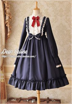 DearCeline -The Berlin Girl- Vintage Classic Lolita OP Dress (High Collar Version),Lolita Dresses, Kawaii Fashion, Lolita Fashion, Girl Fashion, Fashion Dresses, Cute Dresses, Vintage Dresses, Vintage Outfits, Cute Outfits, Gothic Lolita