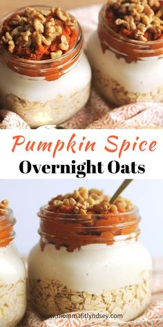 Healthy Snacks pumpkin spice overnight oats are an easy healthy breakfast for busy mornings - Simple Overnight Oats are the perfect easy and healthy morning breakfast! Learn how to create an easy breakfast for busy mornings. Breakfast Desayunos, Easy Healthy Breakfast, Breakfast Recipes, Mexican Breakfast, Breakfast Sandwiches, Breakfast Cookies, Breakfast Smoothies, Breakfast Ideas, Oats Recipes