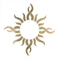 Gold Tribal Sun