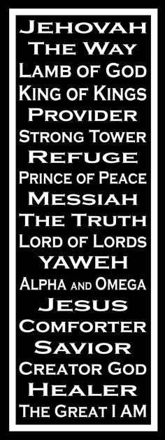 Smart image regarding free printable names of god