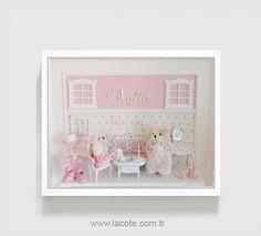 pink nursery art baby girl nursery decor girl by LACOTEKIDS, $495.00