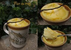 Mug cake flan Mug Recipes, Sweet Recipes, Cake Recipes, Snack Recipes, Cooking Recipes, Snacks, Dessert Micro Onde, Mug Cake Micro Onde, Bowl Cake