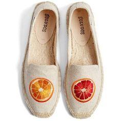 Soludos 'Oranges' Embroidered Espadrille Slip-On