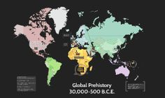 APAH teacher Elizabeth Larrabee's Prezi introduction to Global Prehistory. The world map background provides an excellent way of emphasizing the global nature of the course. Ap Art History 250, Art History Lessons, Map Background, Arts Ed, Prehistory, Historical Maps, Period, Articles, United States