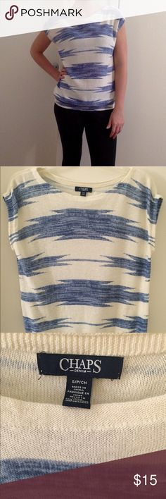 Chaps small short sleeve  sweater Chaps size small short sleeve sweater Chaps Tops