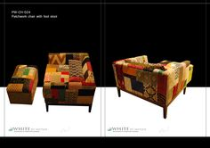 Patchwork 1.5 seater with footstool