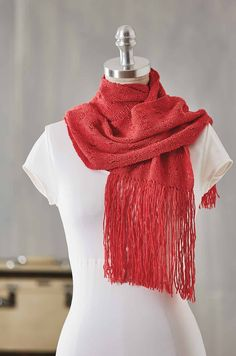 """A great project for the rigid-heddle loom is the Spanish Eyelet Cashmere Scarf by Deborah Jarchow. It requires a rigid-heddle loom with 9"""" weaving width. Find it today in the November/December 2017 issue of Handwoven."""