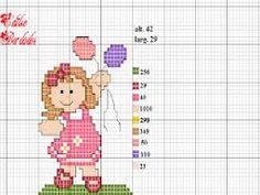 Resultado de imagem para ponto cruz graficos menina
