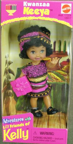 I was so excited to have 2 Kwanzaa Keeya dolls...one was taken, this one.