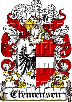 Clemensen Family Crest apparel, Clemensen Coat of Arms gifts