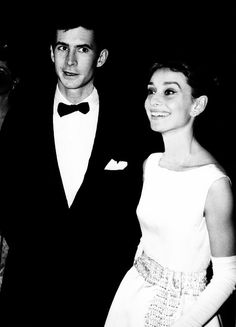 Anthony Perkins and Audrey Hepburn, 1961.