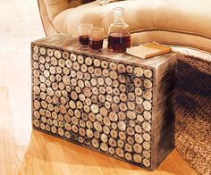 Really like this wood side table!