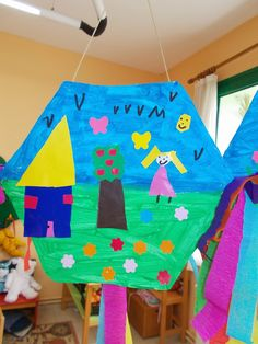 Activities For Kids, Crafts For Kids, Arts And Crafts, Diy Crafts, Carnival Crafts, Carnival Ideas, Kites Craft, School Themes, Techno