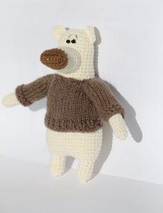Crochet bear crochet polar bear crochet toy by KatkaHandMade