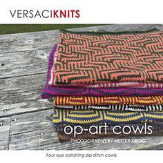 Ravelry: VERSACIKNITS Op-Art Cowls - patterns