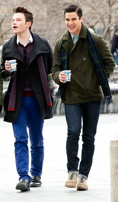 Darren & Chris filming Glee in NYC [March 14, 2014]