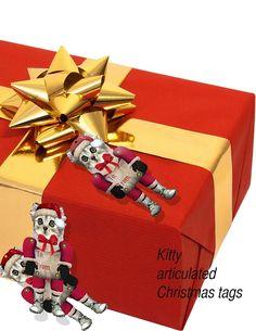 Christmas Holiday ornaments Decoration DIY Elf kittens | HoerthStudio - on ArtFire