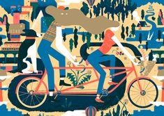 Doris Freigofas and Daniel Dolz are GOLDEN COSMOS. One of my favorite websites and illustrators