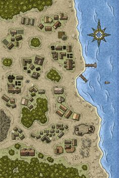 The Library of Gaming Maps Community Google+ Fantasy city map Fantasy map Dungeon maps
