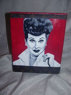 Lucille Ball Mixed Media Art  iCONS Canvas Portrait