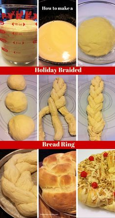 How to make a Holiday Braided Bread Ring - this is perfect for any holiday but especially for breakfast on Christmas morning. #blessedbeyondcrazy #bread #spon