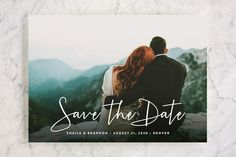 """""""Stylish Script"""" - Save The Date Cards in Cloud by Hooray Creative. ~$2 each"""