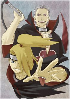 akatsuki | We Heart It #akatsuki #hidan #deidara