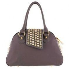 Womens Gwen Studded Bowler Handbag Christian Audigier 94cf945a0b898