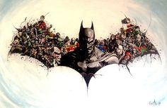 Batman Gotham #batman #acrylic #drewing #art #germany