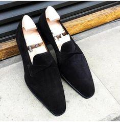 Handmade Mens Black Suede Moccasins, Men Black Suede Dress Shoes, Mens Shoe Moccasins Mens, Leather Moccasins, Black Loafers, Loafers Men, Suede Loafers, Suede Leather Shoes, Black Suede, Soft Leather, Leather Men