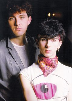 "Soft Cell are an English synthpop duo who came to prominence in the early 1980s. They consist of vocalist Marc Almond and instrumentalist David Ball. The duo are principally known for their 1981 hit version of ""Tainted Love"" (#8 US) and 1981 debut album entitled Non-Stop Erotic Cabaret."