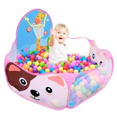 Kids Boys Girls Educational 1.2m Tent Baby Toy Stages Learn Toddler Ball Pool