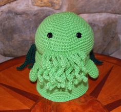 Crocheted Cthulhu Toilet Paper Cover