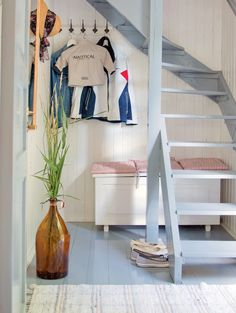 tiny house with stairs   open riser stairs   Small House Ideas
