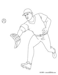 Baseball Runner Coloring Page More Sports Pages On Hellokids
