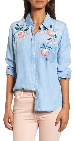 Women's Rails Chandler Embroidered Chambray Shirt